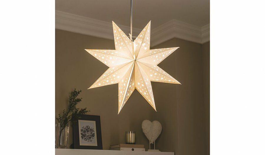 kids boys girls white star light shade light pendant. Black Bedroom Furniture Sets. Home Design Ideas