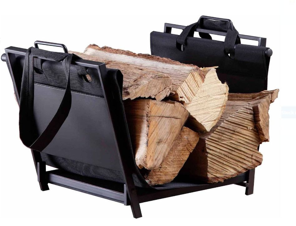 Firewood Log Rack Carrier Canvas Tote Indoor Heavy Duty