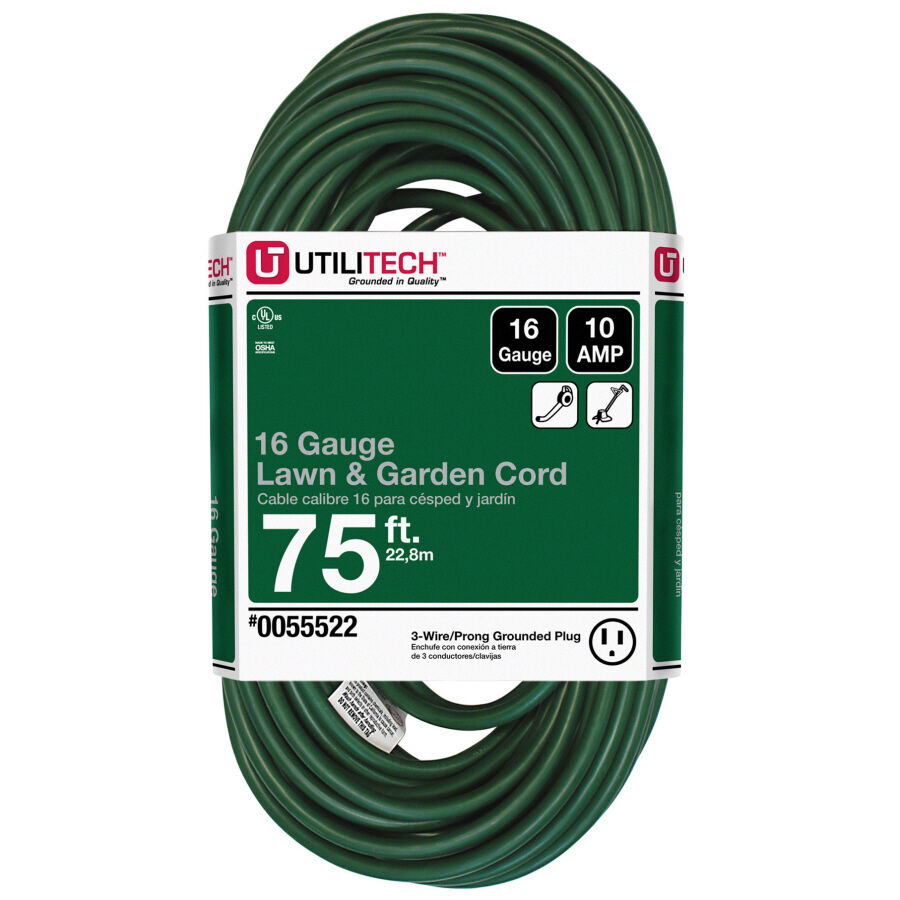 NEW 75-Ft Extension-Cord Outlet 16-Gauge Christmas Yard