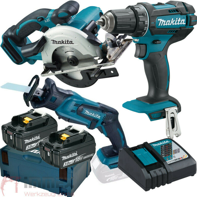 makita akku combo set 18v dhp453 dtd146 djr183 dss501 akkuschrauber uvm ebay. Black Bedroom Furniture Sets. Home Design Ideas