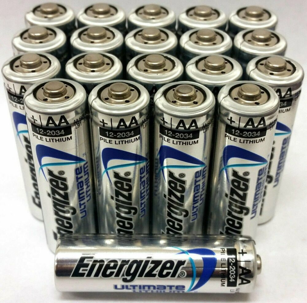 Pack of 20 AA Energizer Ultimate Lithium Batteries