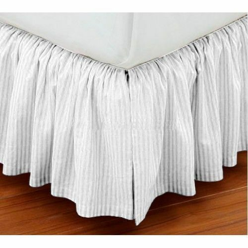 christmas sale extra drop full size dust ruffle bed skirt striped egypt cotton ebay. Black Bedroom Furniture Sets. Home Design Ideas