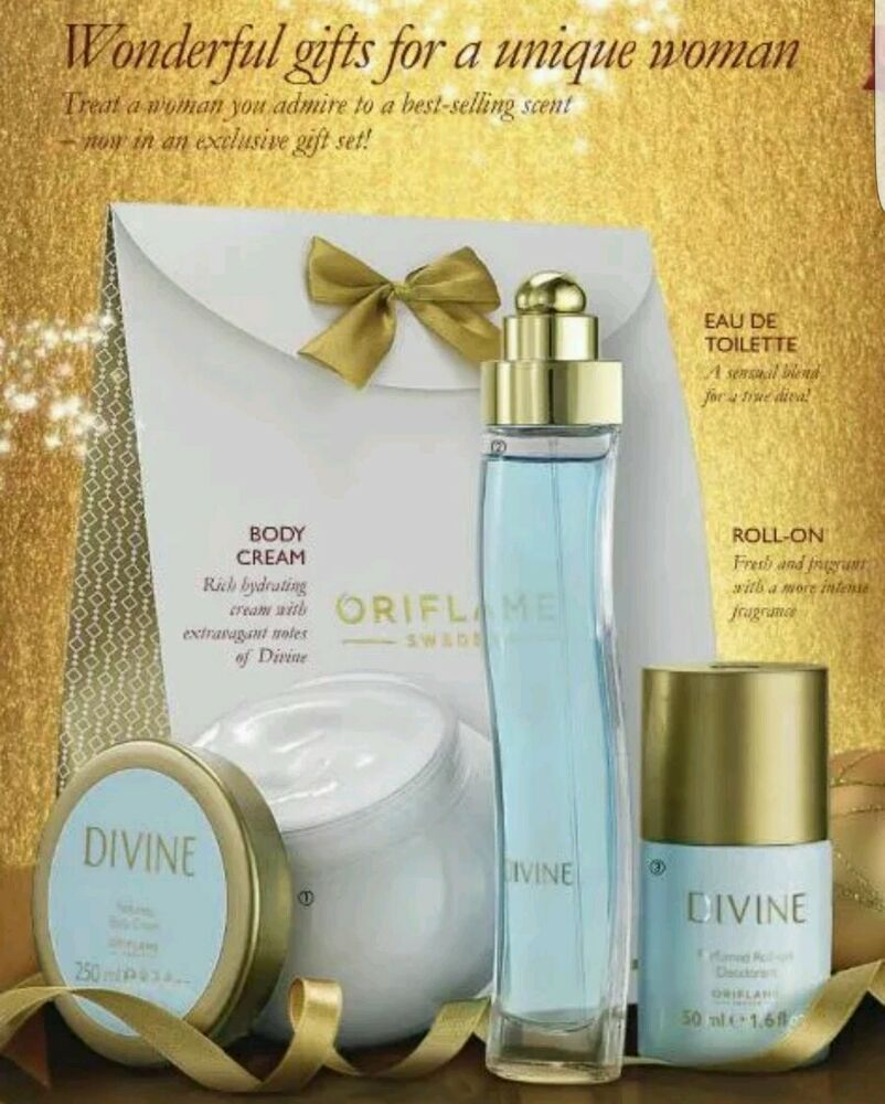 Oriflame Divine Gift Set With Bag New Great Present Ebay Body Cream