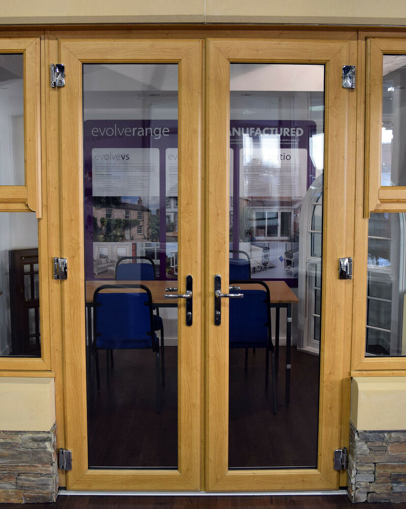 Irish oak french doors made to measure chrome handles for 1800mm french doors