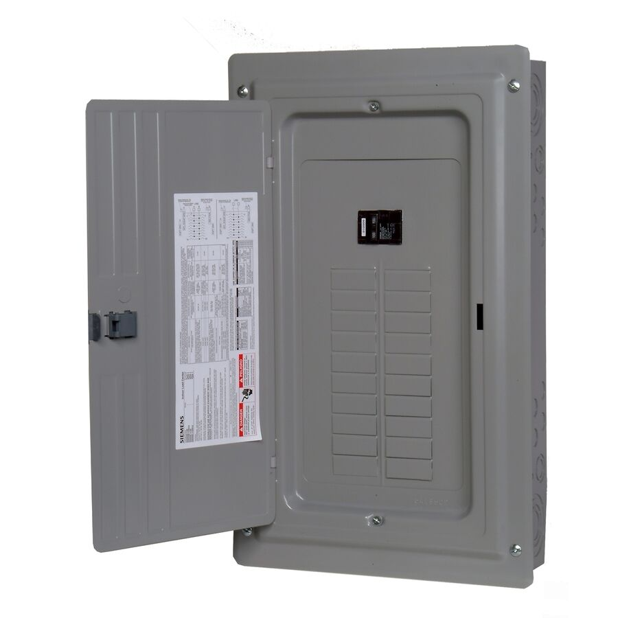 electrical wiring home circuit breaker panel home circuit breaker fuse box new siemens 100-amp 20-space-circuit indoor home main ...