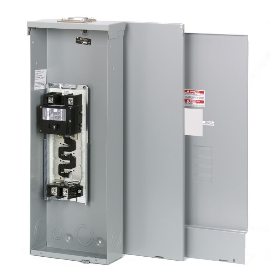 Circuit Breaker Box Cover Decorative Decorative Electrical: 100-Amp 4-8-Space Main-Breaker Outdoor Electrical-Panel