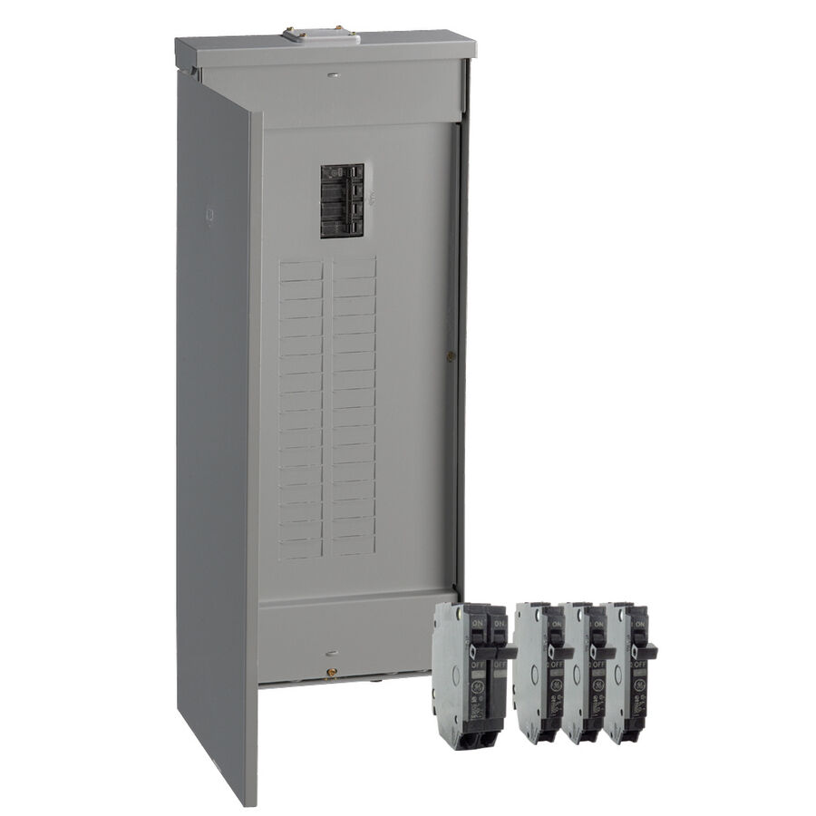 GE 200-Amp 32-Space 40-Circuit Copper-Bus Home Outdoor
