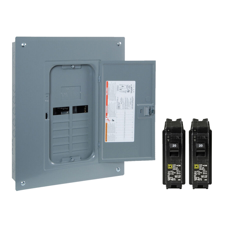 Fuse Box Or Circuit Breaker Panel : New square d amp space circuit indoor home main