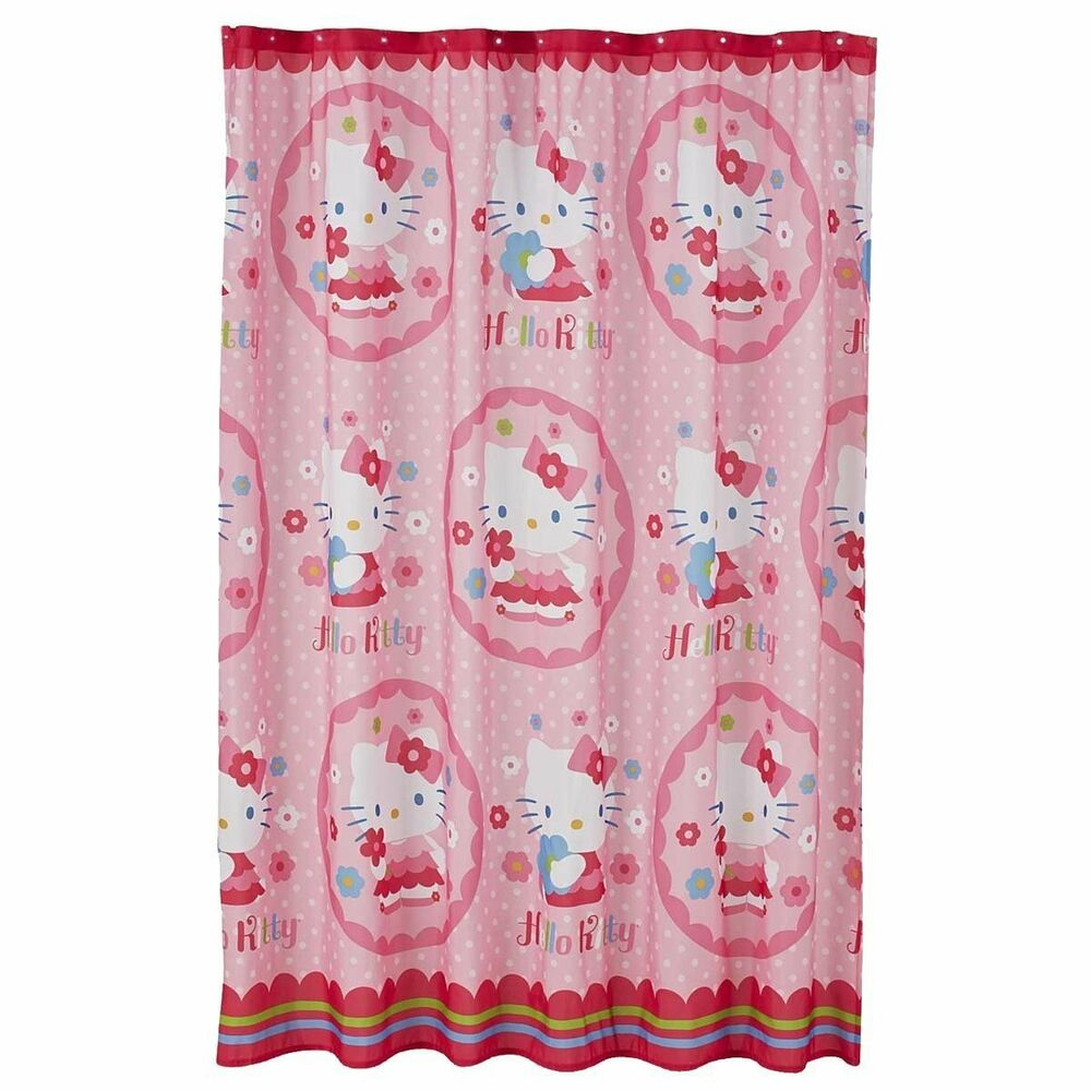 Details About Hello Kitty Fabric Shower Curtain