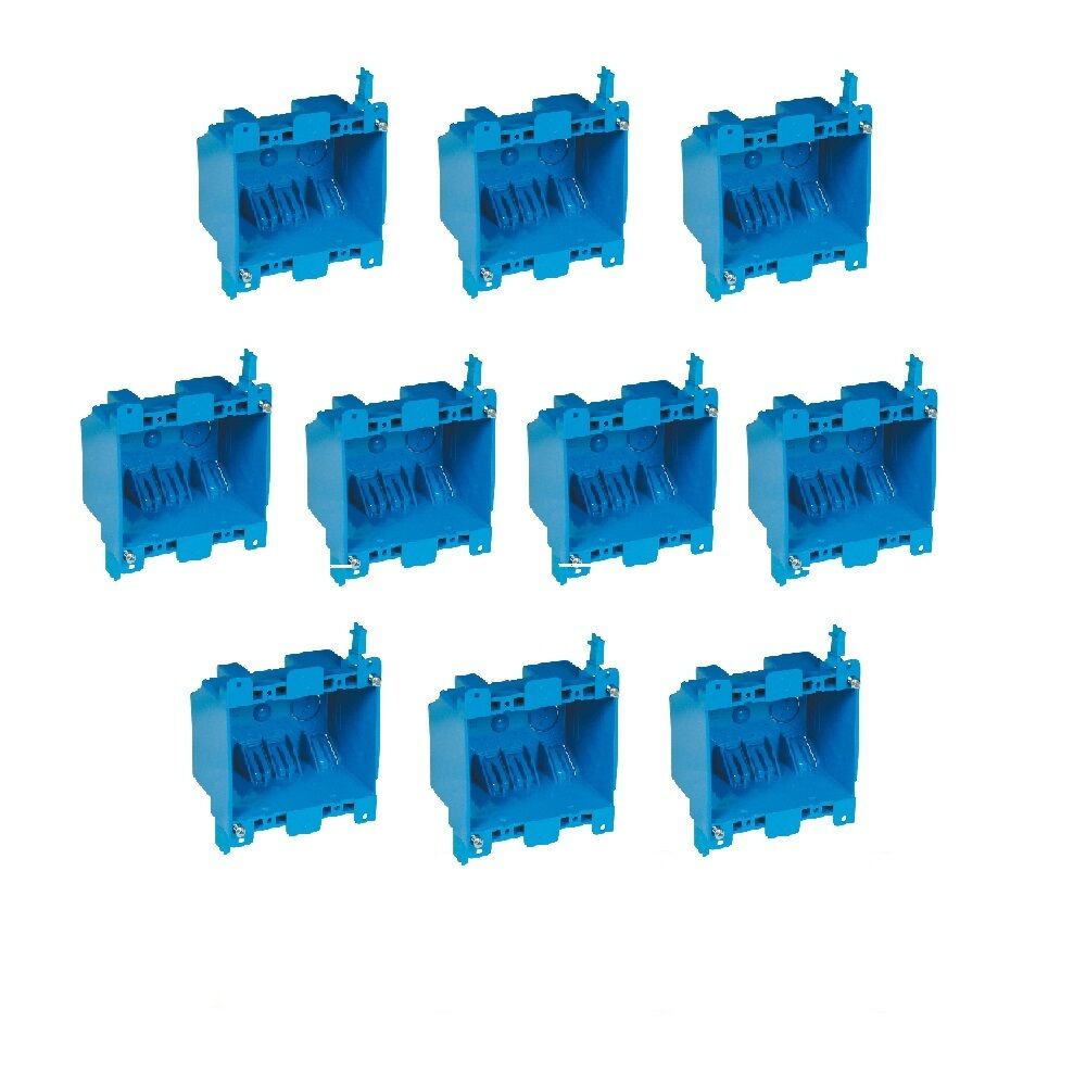 10x Dual 2-Gang Wall Outlet Switch Old-Work Home Plastic Electrical ...