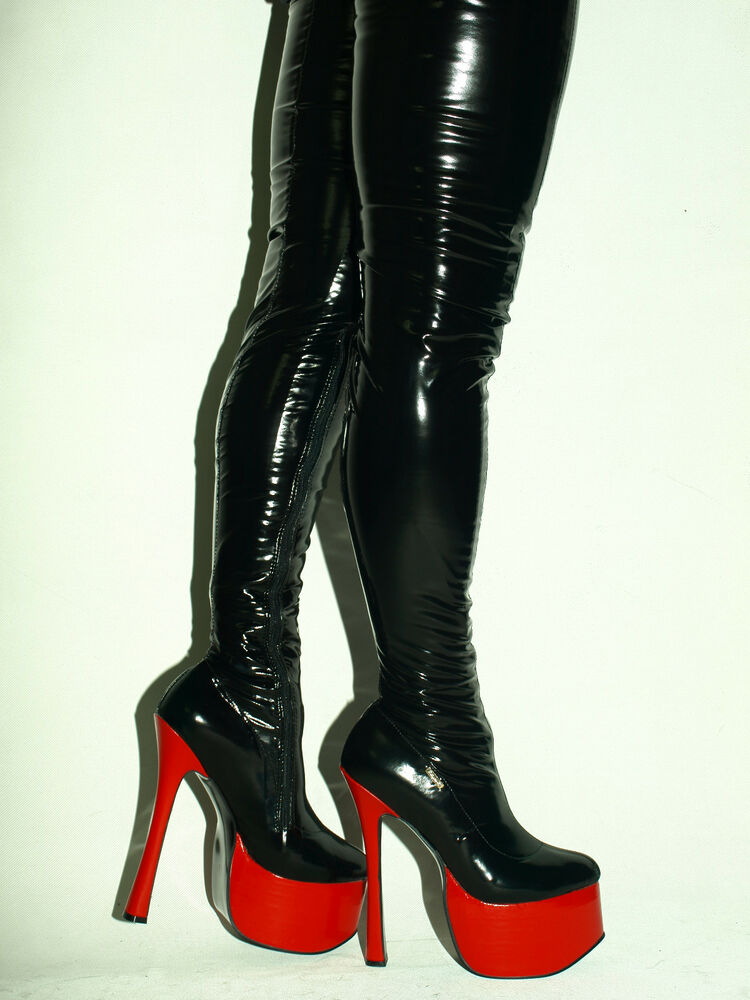 Latex Rubber Ballet High Boots Size 6 16 Heels 8 1 20cm Producer Poland Ebay