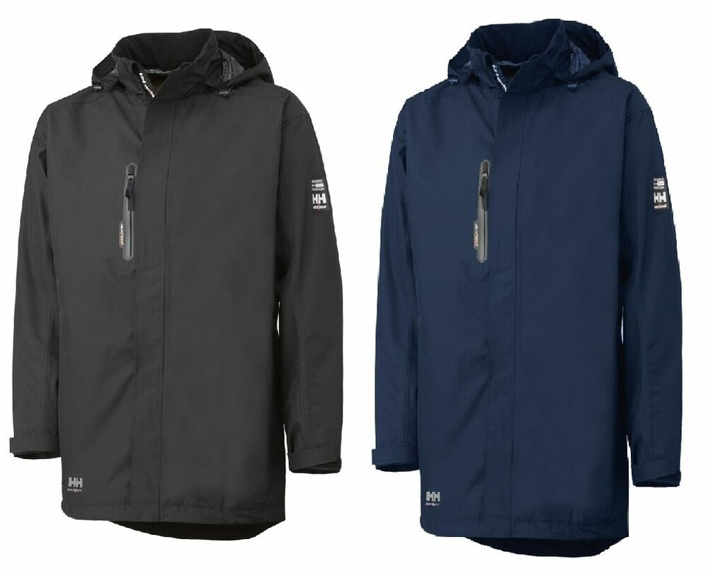 helly hansen haag parka waterproof workwear jackets l 3xl navy and black ebay. Black Bedroom Furniture Sets. Home Design Ideas
