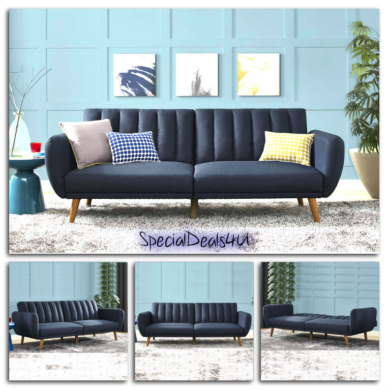 Futon Convertible Couch Sofa Bed Vintage Sleeper Living