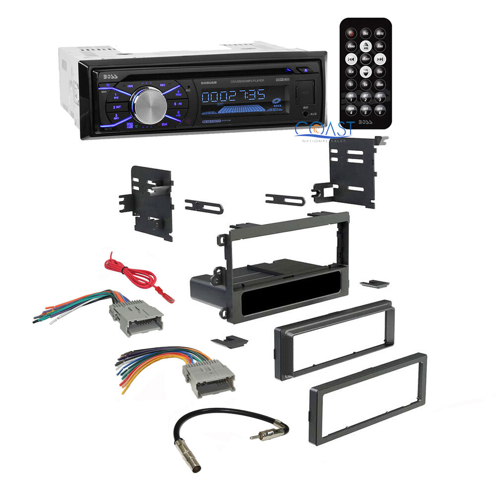 Boss Car Radio Stereo Double Din Dash Kit Harness For 1992