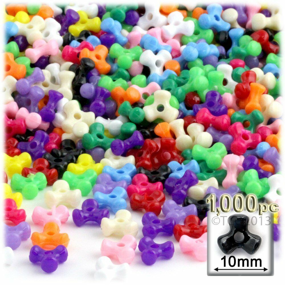 Tri Beads Multi Color Beads Assorted Plastic Beads Kids