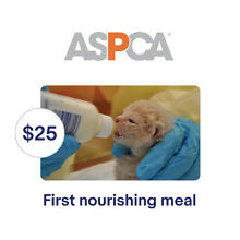 ASPCA $25 Their First Nourishing Meal Symbolic Charitable Donation