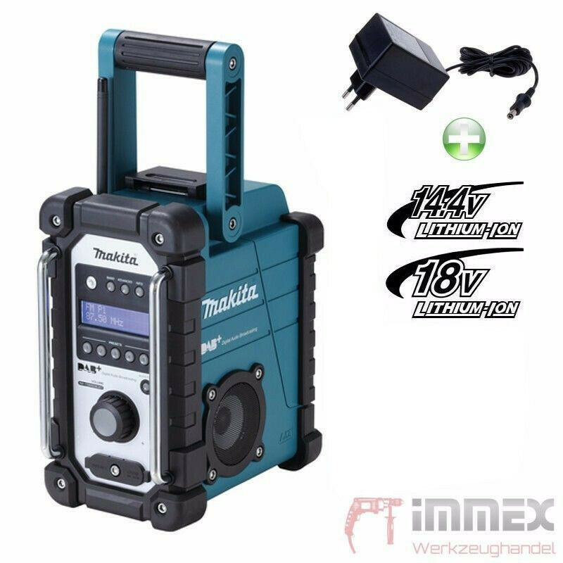 makita akku baustellenradio dmr110 radio dab digitalradio nachfolger v dmr105 ebay. Black Bedroom Furniture Sets. Home Design Ideas
