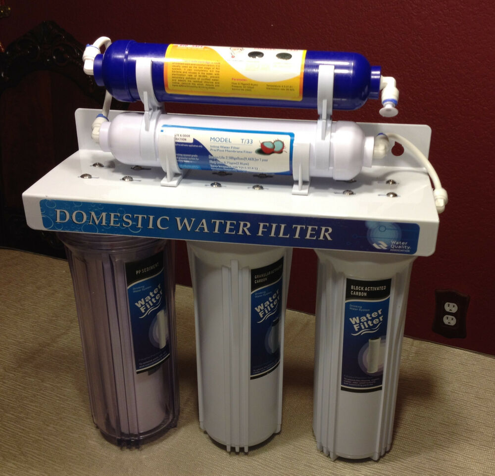 Under Sink Five Stages With Iodized Resin Water Purifying