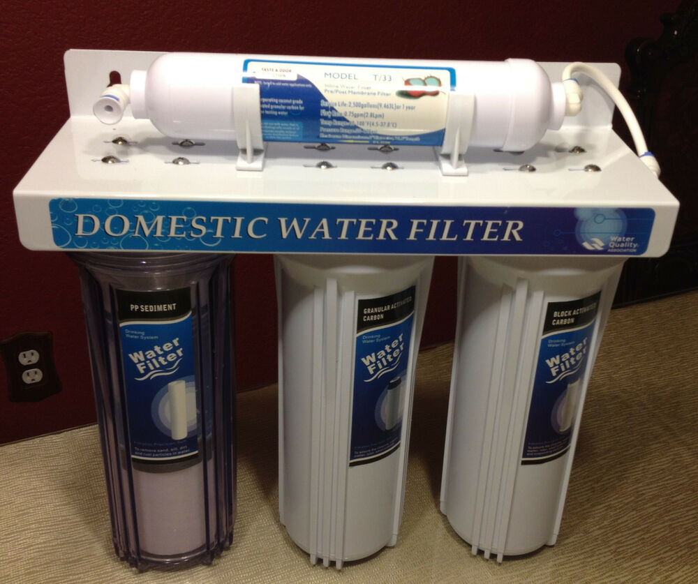 water filter for bathroom sink sink four stage domestic water filter system ebay 24564