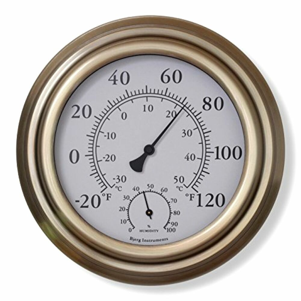 brass thermometer decorative thermometer indoor outdoor thermometer hygrometer ebay. Black Bedroom Furniture Sets. Home Design Ideas