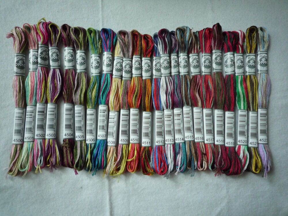 DMC Floss New Variegated Colors - Lot Of 24 Skeins | EBay