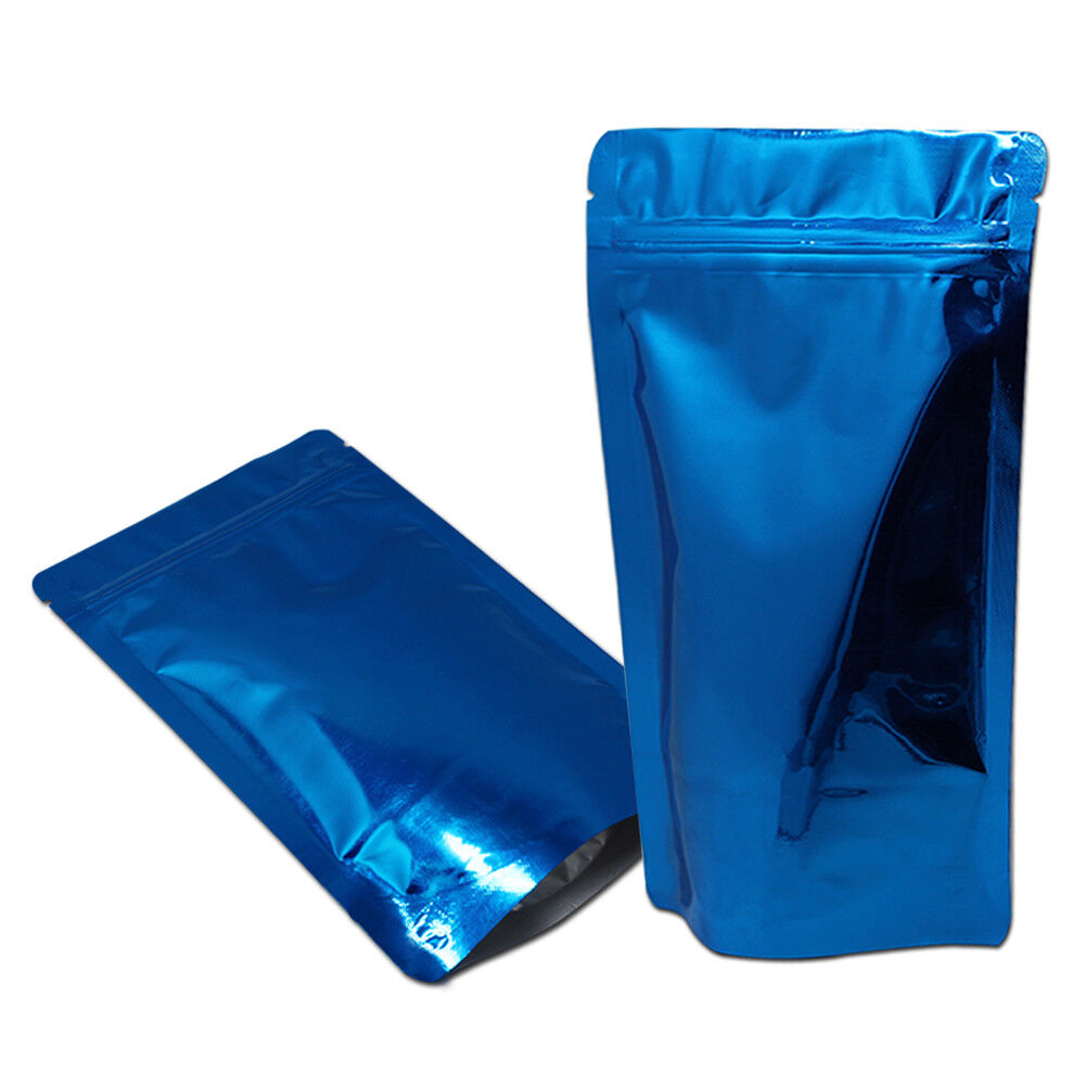 aluminum foil pouches stand up zip lock mylar food grade heat seal packing bags ebay. Black Bedroom Furniture Sets. Home Design Ideas