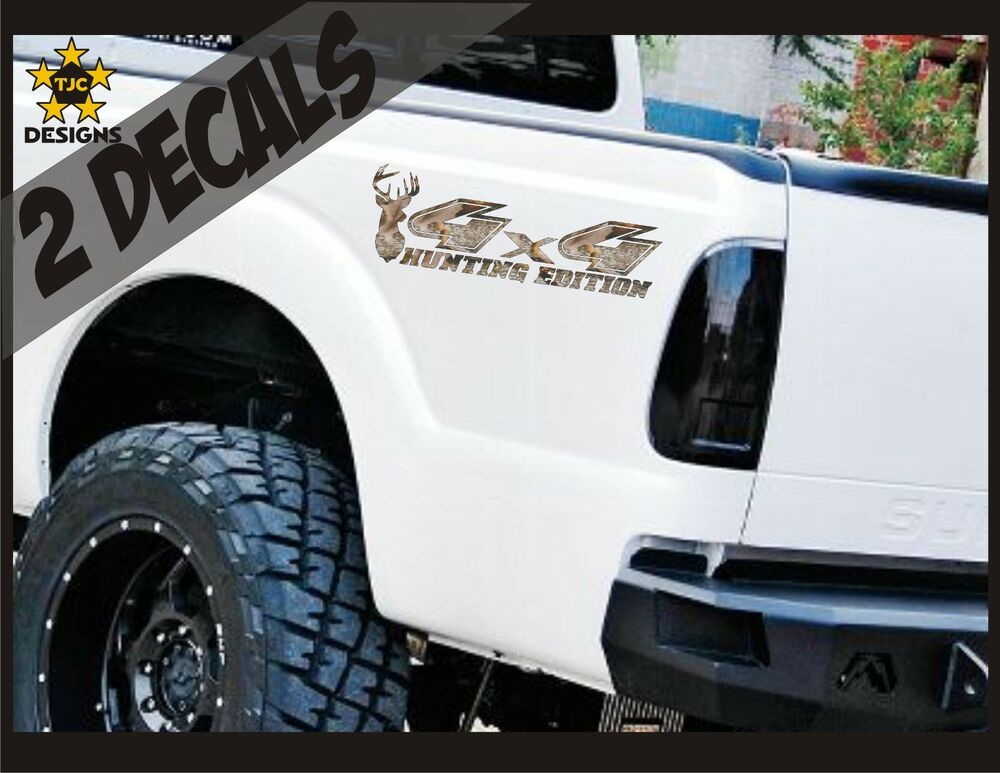 4x4 Decals Oak Tree Camouflage Set For Ford F150 Super