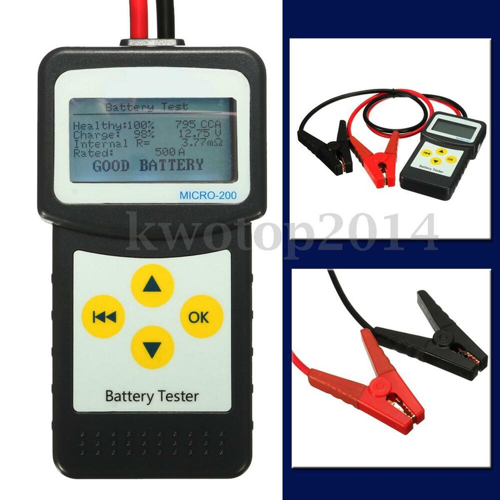 12v car battery tester auto vehicle battery analyzer agm. Black Bedroom Furniture Sets. Home Design Ideas