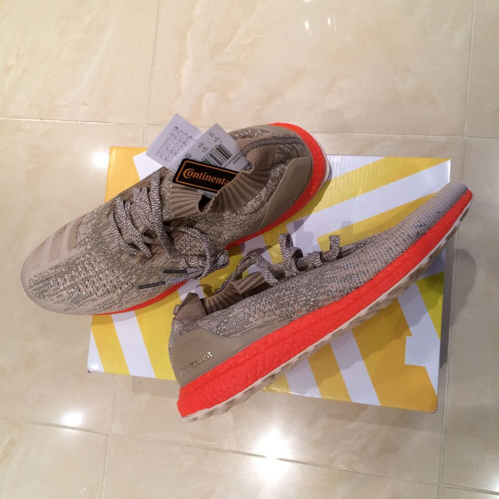 save off 492ef 9c653 Details about ADIDAS ULTRA BOOST UNCAGED TAN SOLAR RED TRACE CARGO ALL SIZES  7 8 9 10 11 12 13