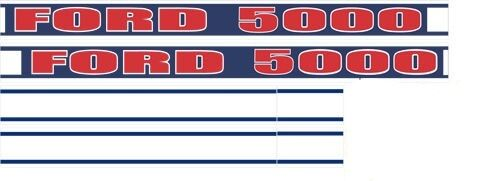 Ford 5000 Tractor Decals : Ford tractor decal ebay