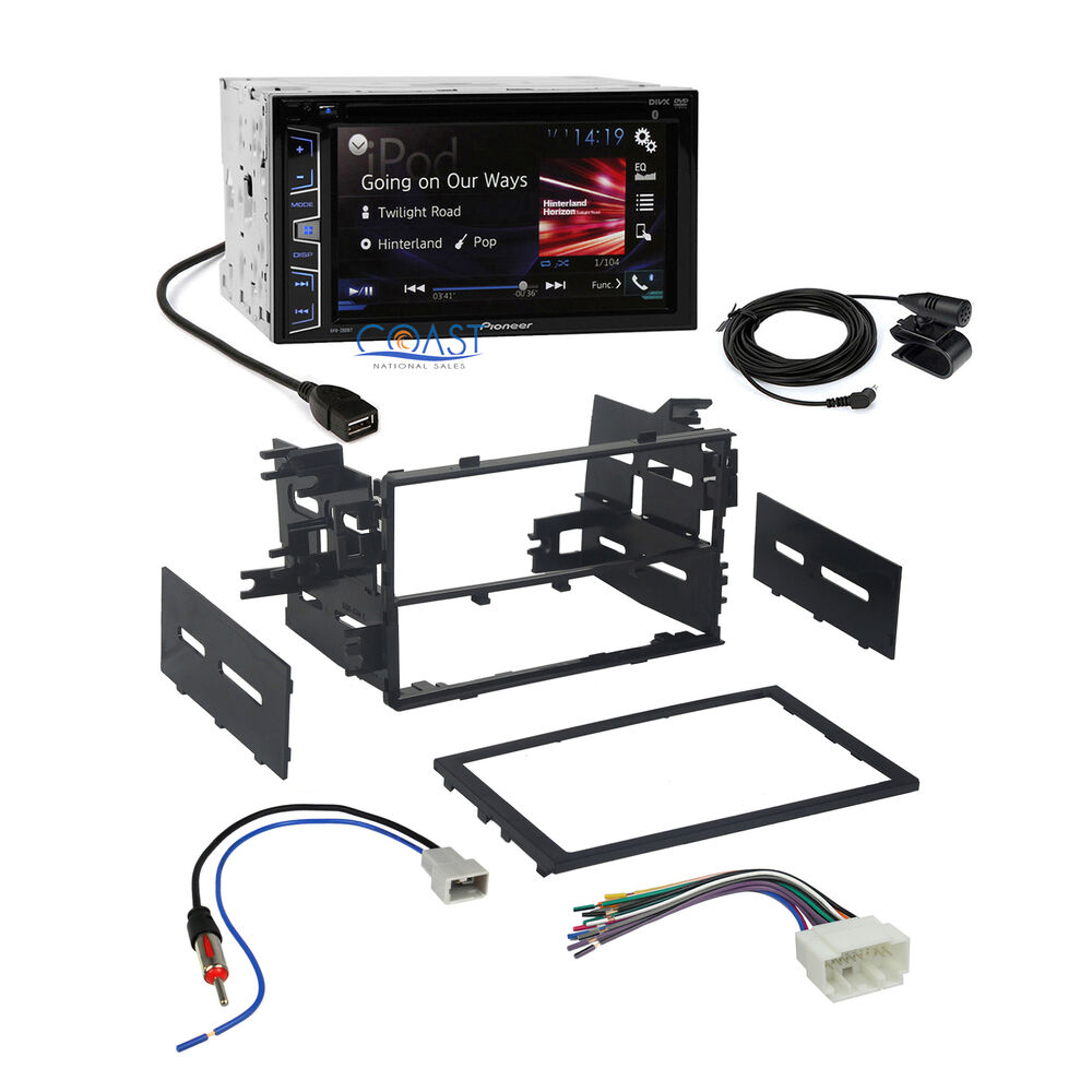 Pioneer double din radio wiring harness