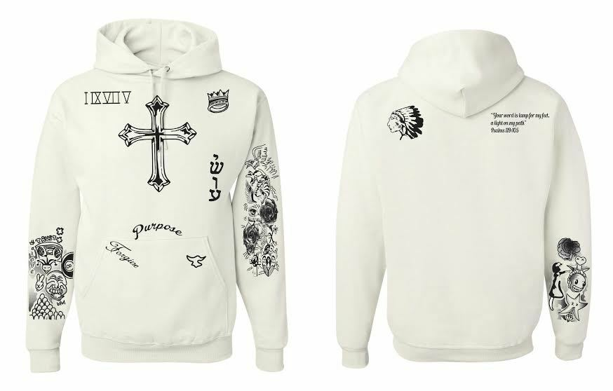 Justin bieber tattoo hoodie sweatshirt ebay for Justin bieber tattoo sweatshirt
