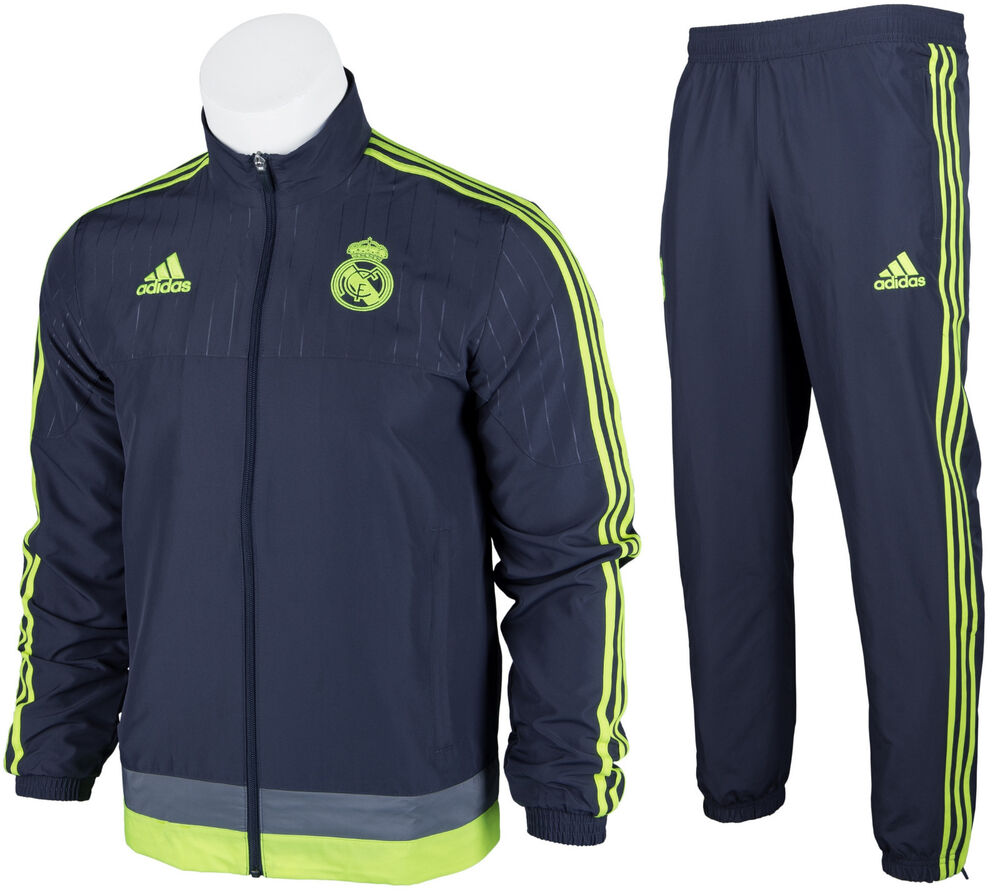 5b9e0798a5c Details about ADIDAS REAL MADRID OFFICIAL MEN S FULL ZIP TRACKSUIT TRACK  JACKET PANTS XS