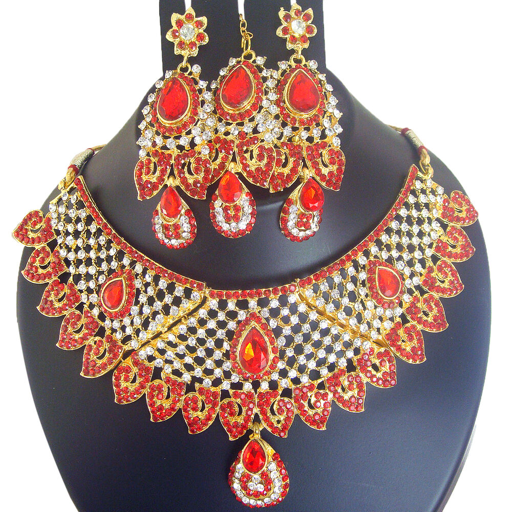 4056 Indian Bridal Jewelry Bollywood New Necklace Ethnic