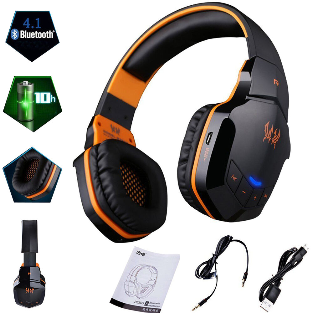 gaming headset stereo bluetooth wireless headphones for xbox one 360 ps4 pc u2r7 ebay. Black Bedroom Furniture Sets. Home Design Ideas