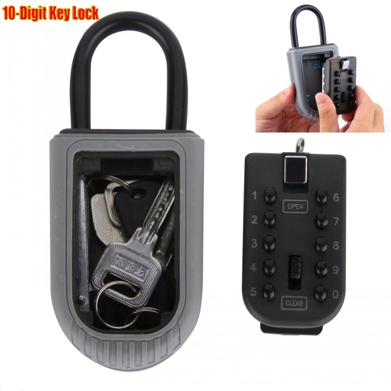 Combination Outdoor Key Safe Box Security Holder Case Lock Wall Mounted Car H