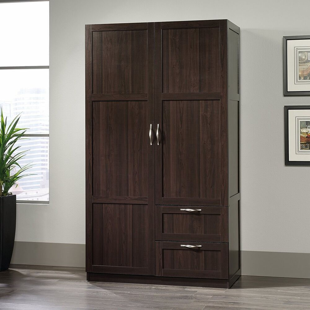 storage cabinets with drawers doors wardrobe closet wood. Black Bedroom Furniture Sets. Home Design Ideas