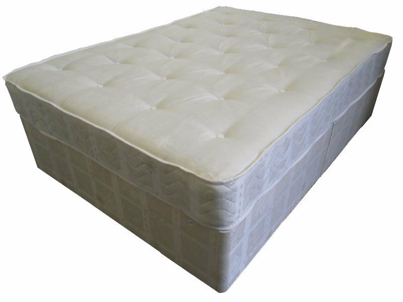Single double king size divan bed orthopaedic mattress for Double divan size