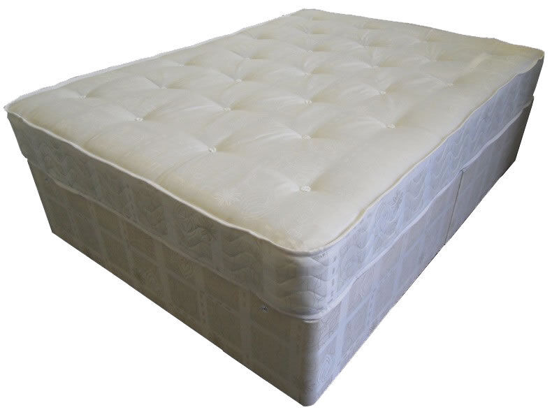 Single double king size divan bed orthopaedic mattress for King size divan bed no mattress