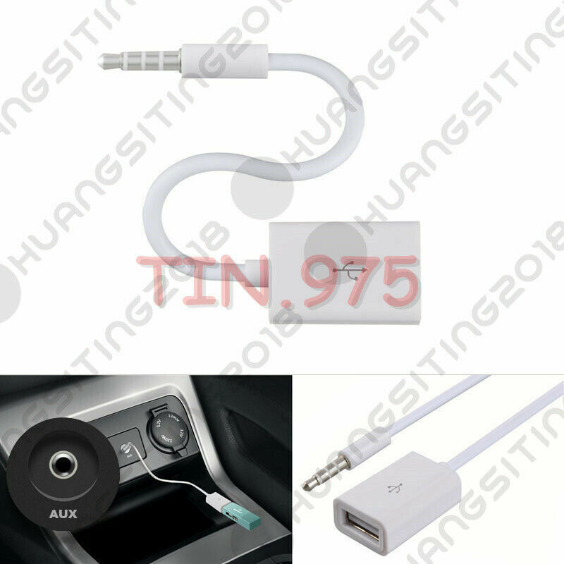 Car Auxiliary Port: Car MP3 3.5mm Headphone Male To USB Port Adapter AUX Jack