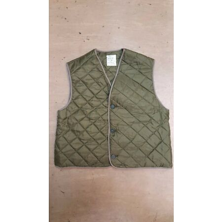 img-New Vintage British Army Issue Quilted Green Waistcoat Size 4 1970s Issue