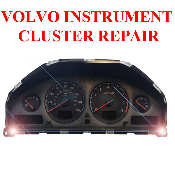 volvo xc70 xc90 dim dashboard instrument cluster. Black Bedroom Furniture Sets. Home Design Ideas