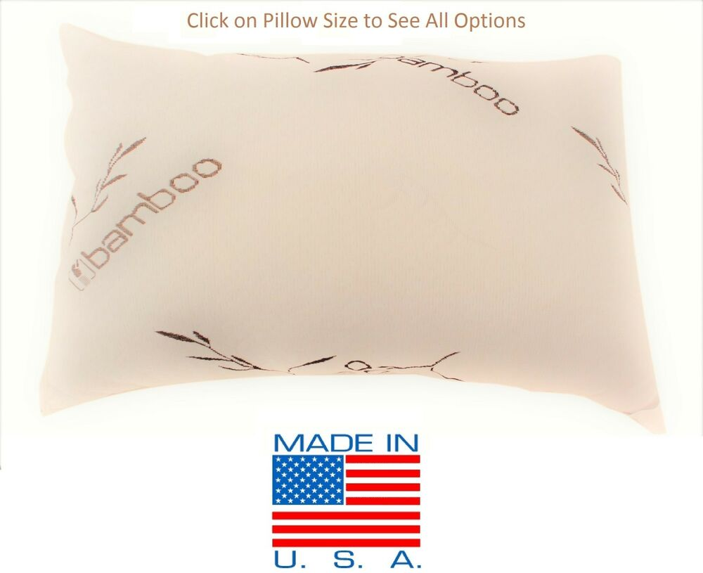 Bamboo Shredded Memory Foam Pillow Made In Usa Queen King
