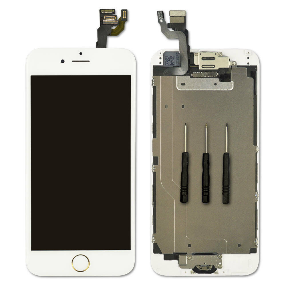 f5ee44741e5 Details about For iPhone 6 Replacement Digitizer Touch Screen White Gold  Home Button Camera UK