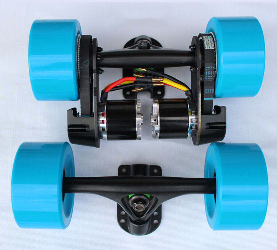Dual Wheel Parts : Diy dual w electric longboard parts kit mm wheel