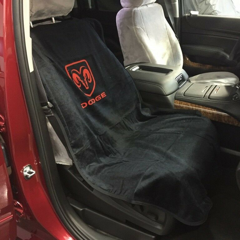 1994 2017 dodge ram 1500 black seat cover seat armour towel red rams head new ebay. Black Bedroom Furniture Sets. Home Design Ideas