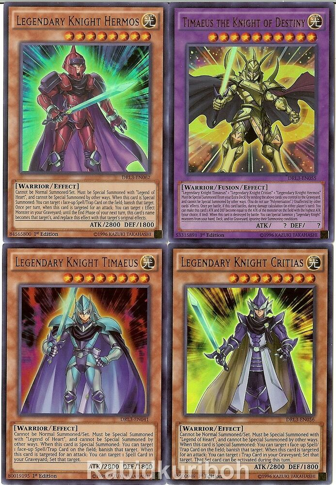 Yugioh Legendary Dragon Knight Set - Hermos Critias ...