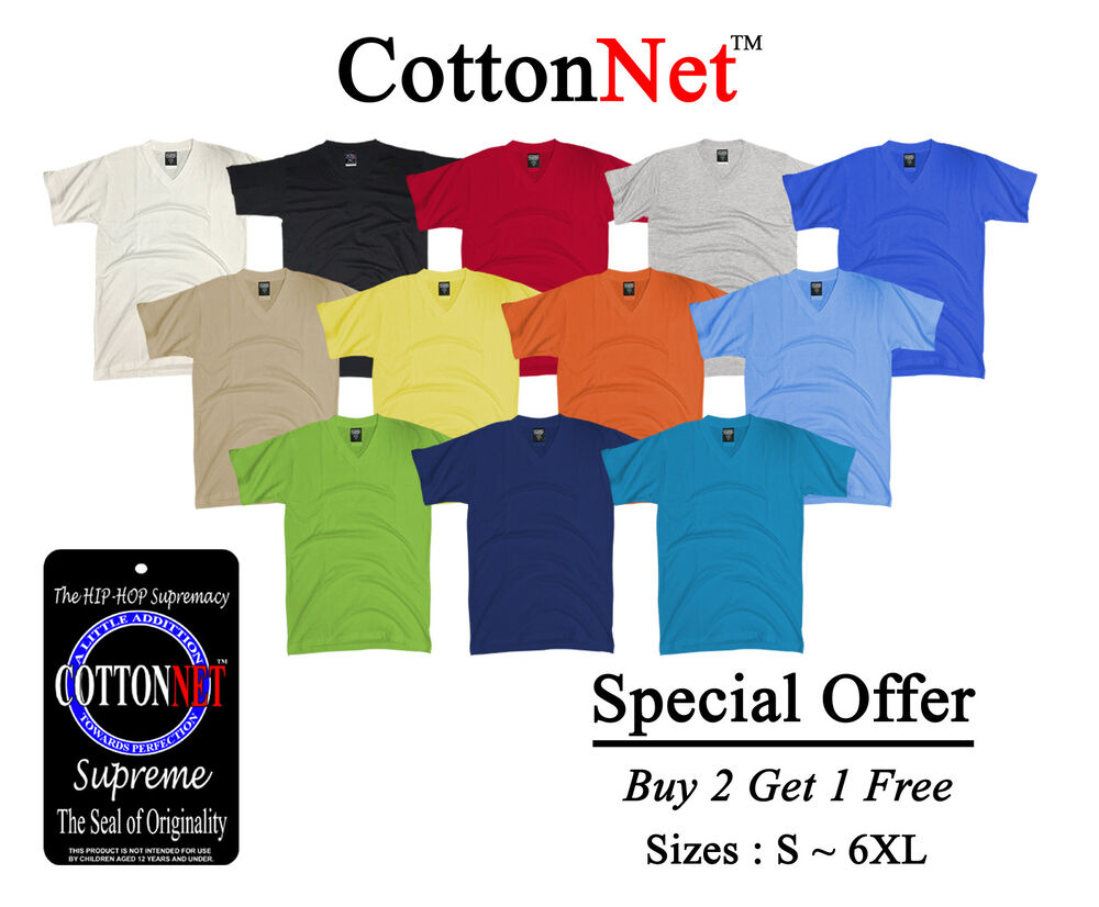 Buy 2 get 1 free cottonnet v neck t shirt supreme heavy for Buy 1 get 1 free shirts
