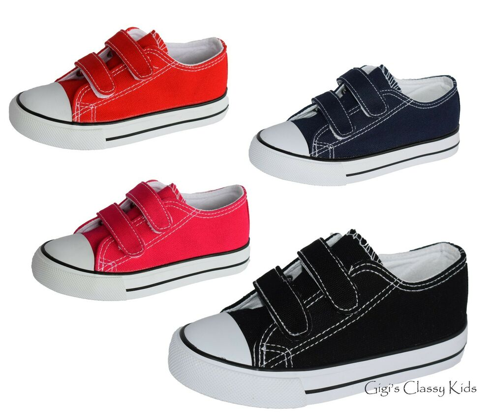 New Boys Girls Baby Toddler Canvas Tennis Shoes Sneakers