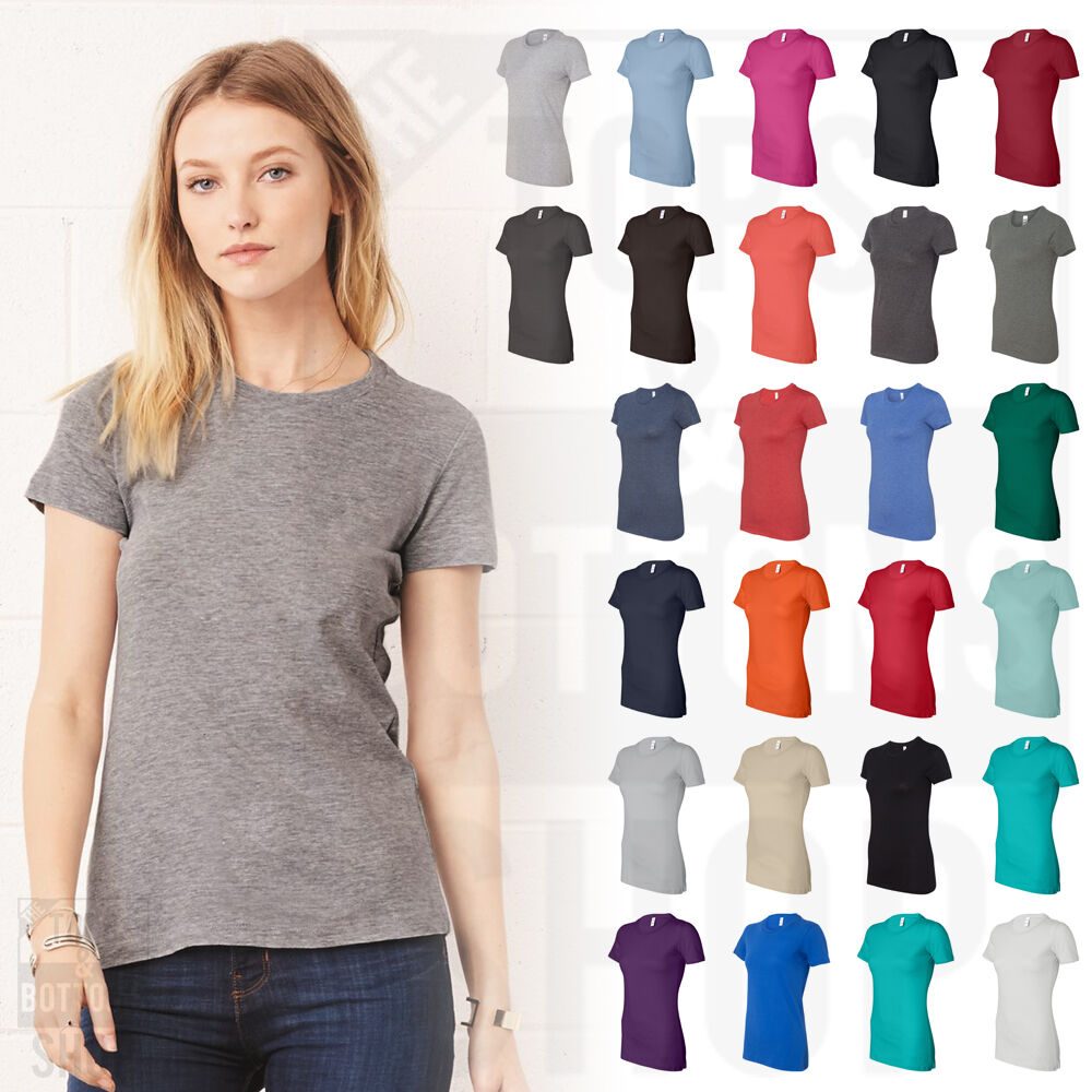 0d770ee13 Details about Bella + Canvas Womens The Favorite Tee Short Sleeve Ladies T- Shirt S-2XL - 6004